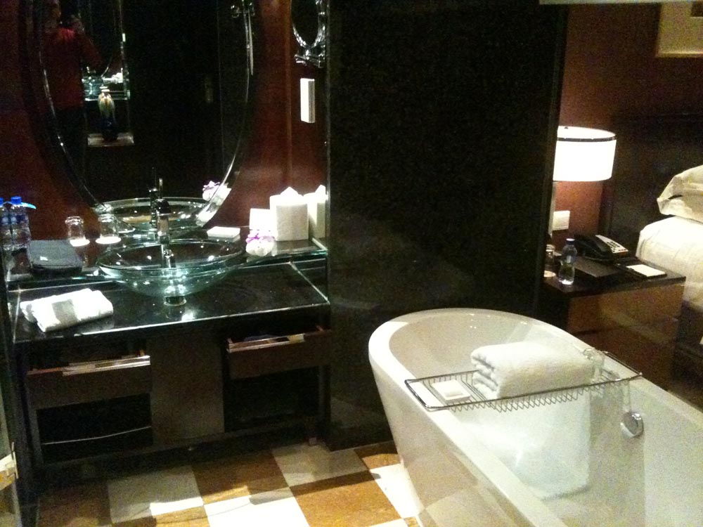 Norman and Zina's bathroom in China