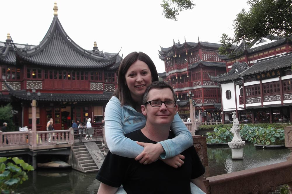 Norman and Zina in old Shanghai