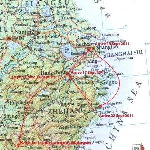 Shanghai Regional Map